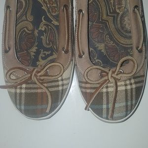 Sperry Top-Sider Plaid Like New SZ 11M